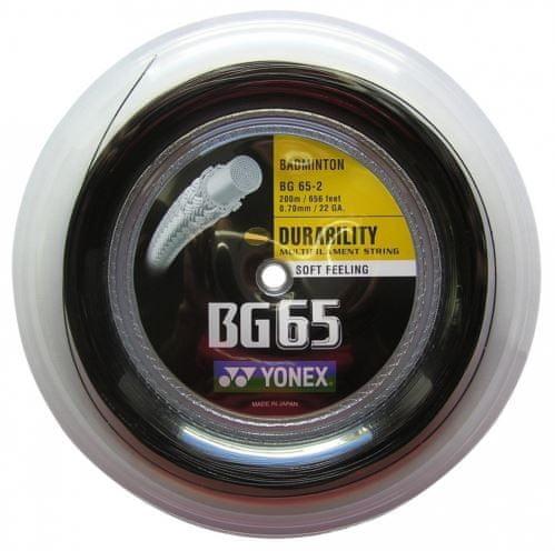 Yonex Badmintonový výplet BG 65, 0,70mm, 200m, černý