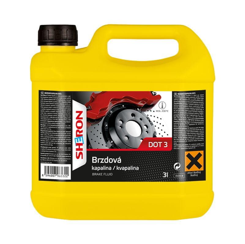 Sheron Brzdová kapalina DOT 3, 3 litry