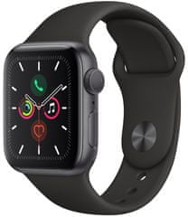 Apple Refurbished Watch Series 5, 40mm Space Gray Aluminium Case with Black Sport Band