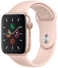 Apple Refurbished Watch Series 5, 44mm Gold Aluminium Case with Pink Sand Sport Band