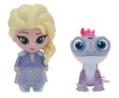 ADC Blackfire Frozen 2: 2-pack svietiaca mini bábika - Elsa Travelling & Bruni