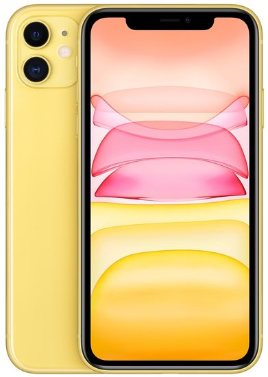 Apple iPhone 11 mobilni telefon, 128GB, rumen
