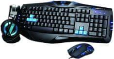 E-Blue Set Cobra, černá/modrá, US (EKM800BLCZ-IU)