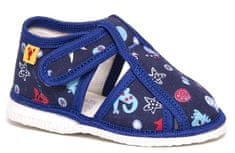 RAK Chlapecké vzorované bačkůrky 100015-3 M3 modré 21
