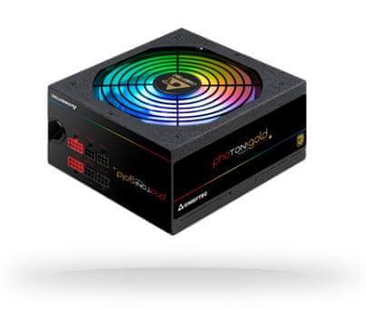 Chieftec GDP-750C-RGB napajalnik, photon gold series, RGB, 750W