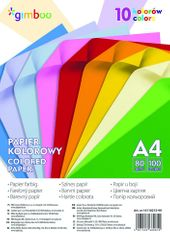 Donau Barevné papíry A4, 80 g, 10 sytých barev /100 ks