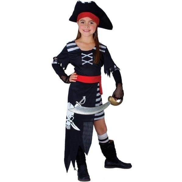 Wicked Dětský kostým Pirátka - Pirátská princezna 4 dílný set Velikost kostýmu: XL