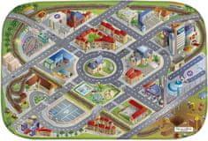 Achoka HOUSE OF KIDS Dětský hrací koberec Město 3D Ultra Soft 130x180 zelený