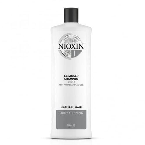 Nioxin Čistiace šampón pre jemné mierne rednúce prírodné vlasy System 1 (Shampoo Cleanser System 1 )