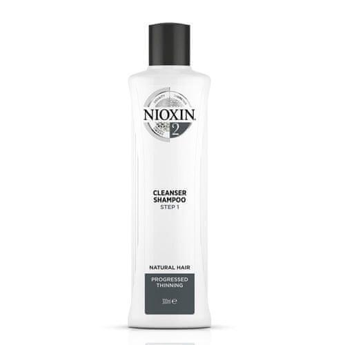 Nioxin Čistiace šampón pre jemné výrazne rednúce prírodné vlasy System 2 (Shampoo Cleanser System 2 )