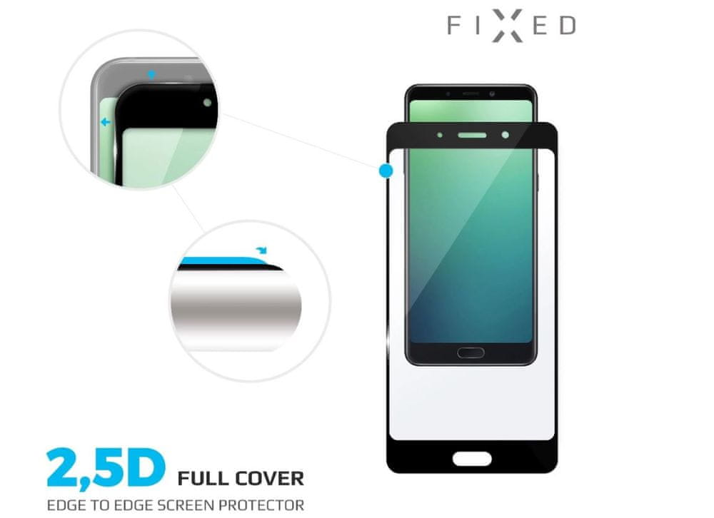 FIXED Ochranné tvrzené sklo Full-Cover pro Huawei Mate 30 Lite, černé, FIXGFA-415-BK