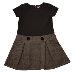North Pole dekliška obleka, sivo/črna, za 4 leta