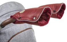 Little Angel rukavice na kočár Mazlík bordová/bordová