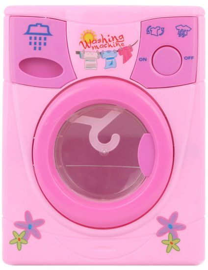 Lamps Rózsaszín mosógép vízzel, elemekre