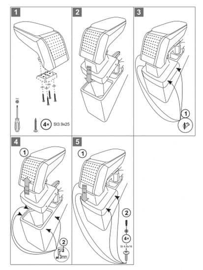 Rati Loketní opěrka Hyundai i20 2014-2020