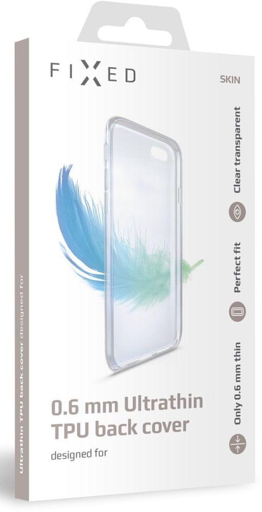 FIXED Ultratenké TPU gelové pouzdro Skin pro Xiaomi Redmi 7A, 0,6 mm, čiré (FIXTCS-423)