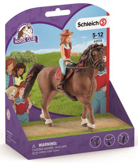 Schleich Rdečelaska Hannah in konj Cayenne