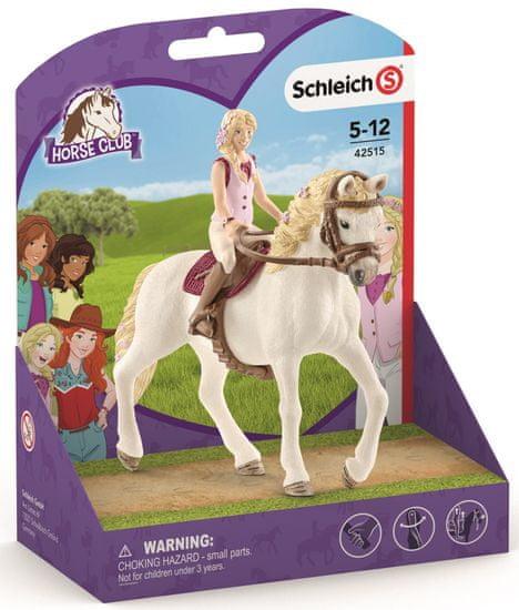Schleich figurki - blondynka Sofia i koń Blosom