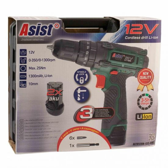 ASIST wiertarko-wkrętarka akumulatorowa AE2V12DN-132-BMC