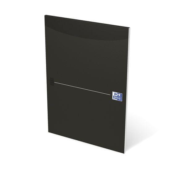 Oxford Blok poznámkový lepený Smart black A4 linkovaný, 50 listů
