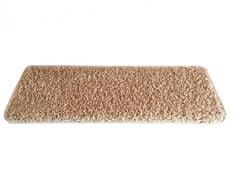 Vopi Nášlapy na schody béžový Color shaggy obdélník 24x65 obdélník (rozměr včetně ohybu)