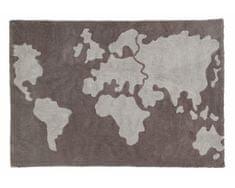 Lorena Canals Bio koberec kusový, ručne tkaný World Map 140x200