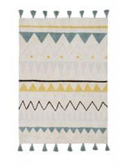 Lorena Canals Bio koberec kusový, ručne tkaný Azteca Natural-Vintage Blue 120x160