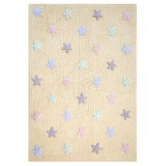 Lorena Canals Bio koberec kusový, ručne tkaný Tricolor Stars Vanilla 120x160