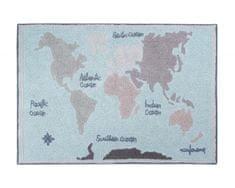 Lorena Canals Bio koberec kusový, ručne tkaný Vintage Map 140x200
