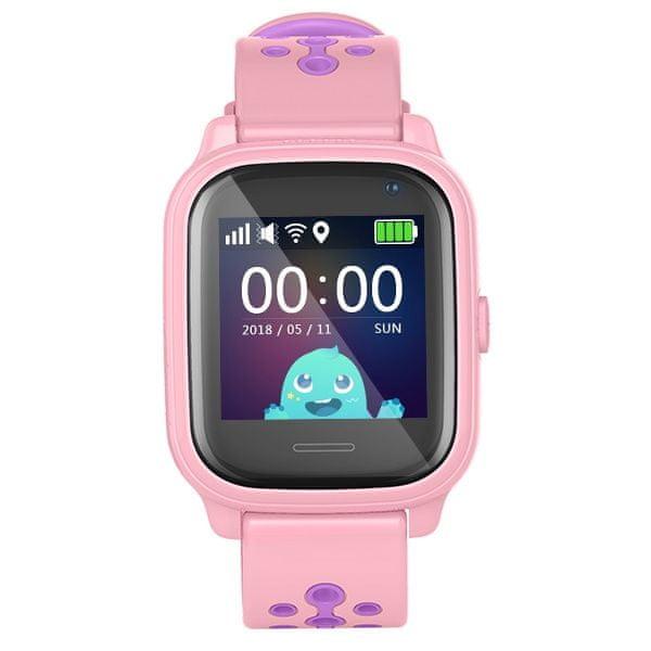 Smartomat Kidwatch 3 - růžová, dětské hlídací chytré hodinky s GPS lokátorem