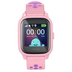 Smartomat Kidwatch 3 růžová, dětské hlídací chytré hodinky s GPS lokátorem