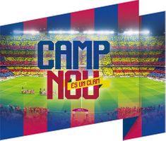 Imagicom Samolepka na zeď FC Barcelona Camp Nou 47x54 cm
