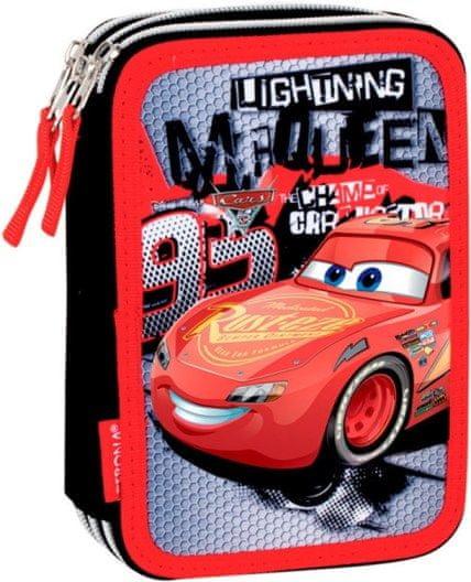 PERONA Třípatrový penál Cars Blesk McQueen plný