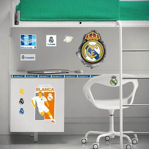 Imagicom Samolepka na zeď Logo 3D FC Real Madrid 60x60 cm