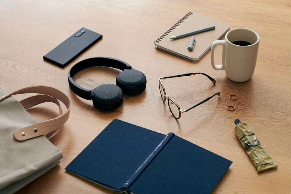Sony WH-CH510 bezdrátová sluchátka, černá - zánovní