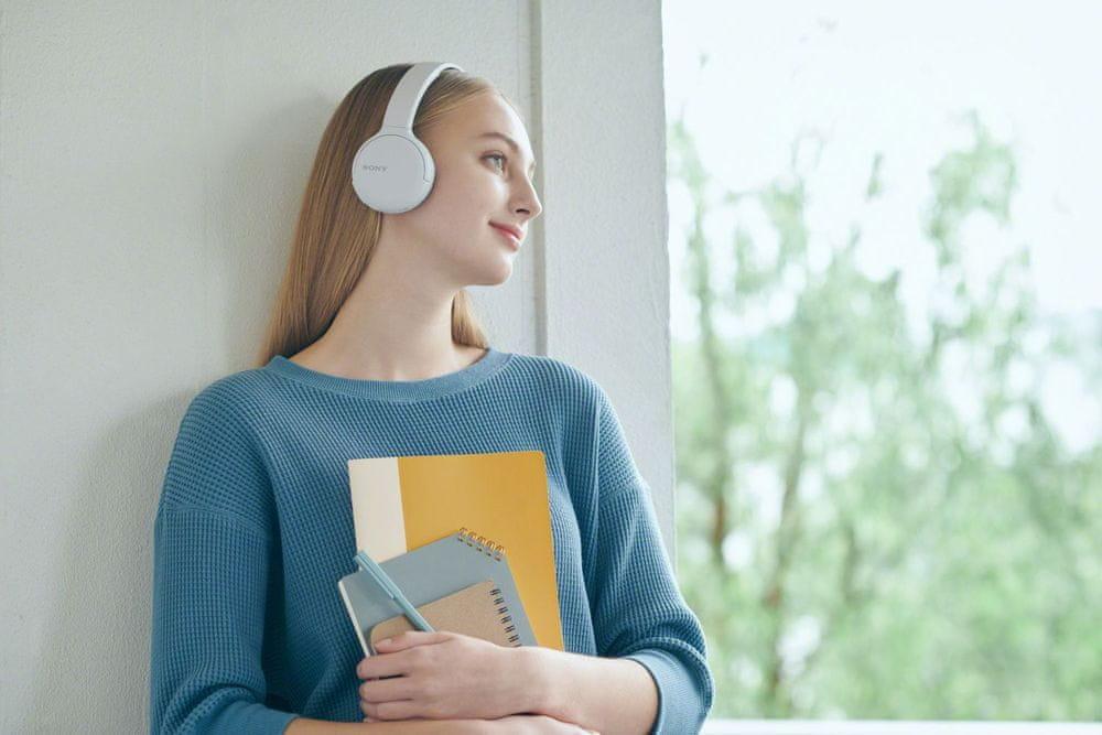 Sony WH-CH510 bezdrátová sluchátka, bílá