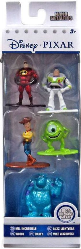 Jada Toys Nano Metalfigs figurky Disney Pixar sada 5ks kovové