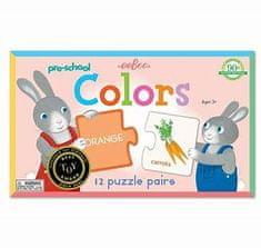 eeBoo Předškolní Duo puzzle - Barvy