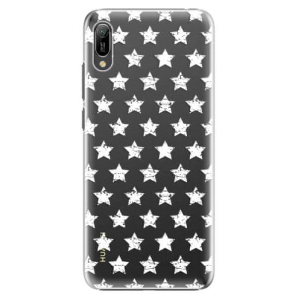 iSaprio Plastový kryt - Stars Pattern - white pro Huawei Y6 2019