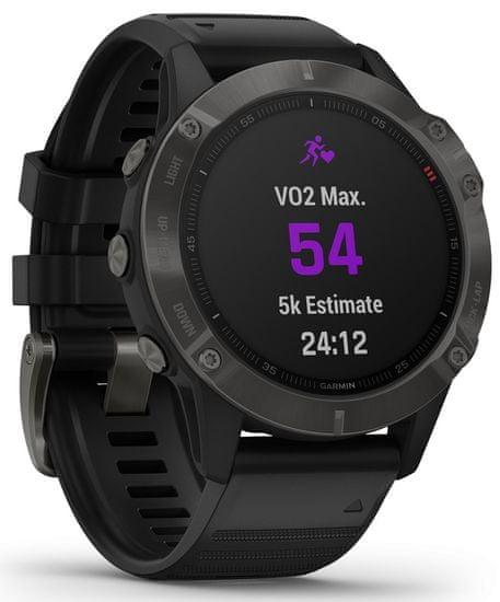 Garmin smartwatch fénix 6 Sapphire, Carbon Gray DLC, Black Band