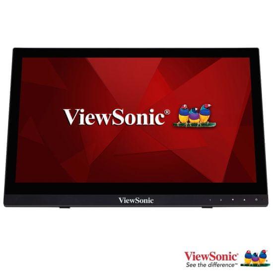 """Viewsonic TD1630-3 monitor na dotik, 16"""", TN, zvočniki"""