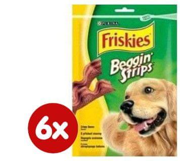 Friskies trakovi s slanino Beggin Strips, 6 x 120 g