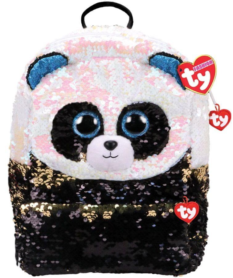 TY Fashion Sequins large batůžek s otočnými flitry Bamboo - panda