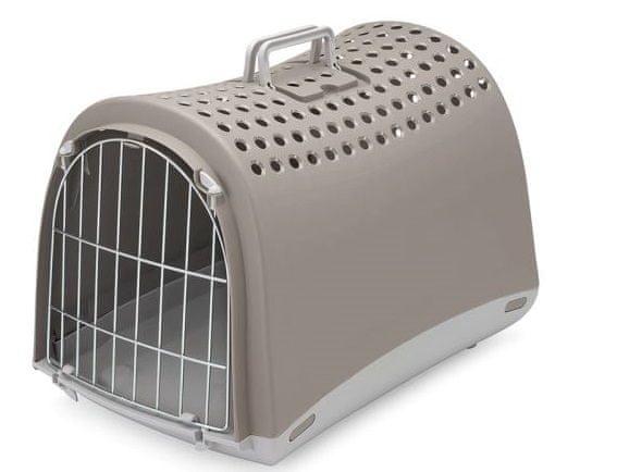 IMAC Přepravka pro psa a kočku plastová, šedá 50x32x34,5 cm