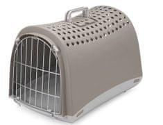 IMAC potovalni zaboj za pse in mačke, 50x32x34,5 cm, siv