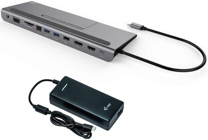I-TEC USB-C 3× 4K LCD dokovací stanice + zdroj 112W C31FLATPLUS112W
