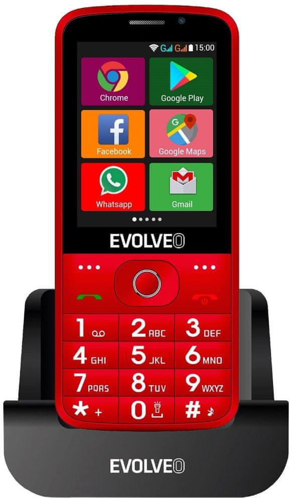 Evolveo EasyPhone AD, červený - použité