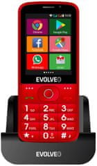 Evolveo EasyPhone AD, červený - zánovní