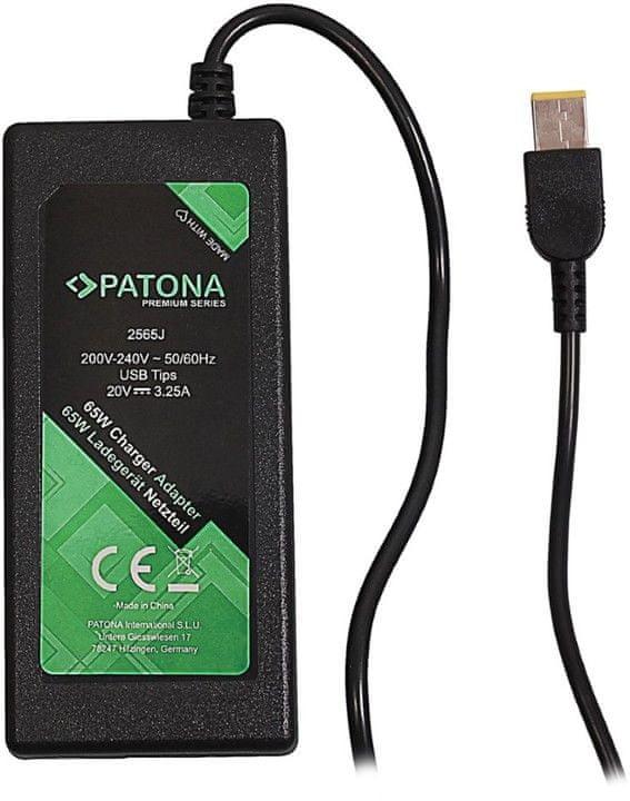 PATONA Napájecí adaptér k ntb / 20 V/3,25A 65 W/ Slim tip IBM/LENOVO PREMIUM, PT2565