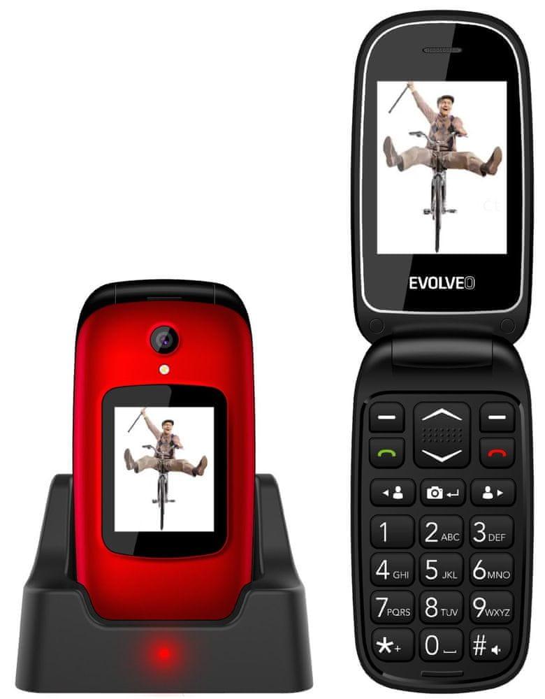 Evolveo EasyPhone FD, červený - zánovní